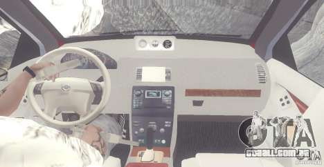 Volvo XC90 V8 2008 para GTA San Andreas vista interior