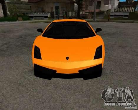 Lamborghini Gallardo LP570 Superleggera para GTA San Andreas vista traseira