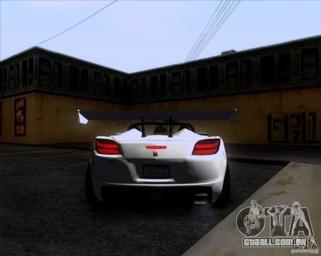 Saturn Sky Roadster para GTA San Andreas vista direita