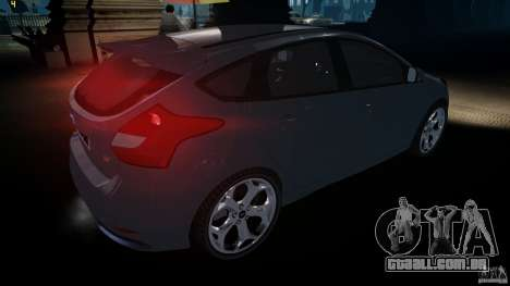 Ford Focus 3 ST para GTA 4 vista direita