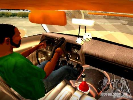 Chevrolet El Camino 1976 para GTA San Andreas vista interior