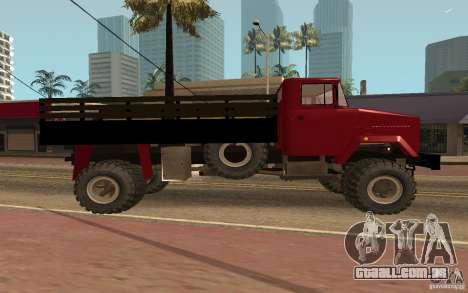 KrAZ 5131 para GTA San Andreas esquerda vista