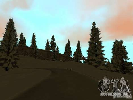 Trilha de inverno para GTA San Andreas sexta tela