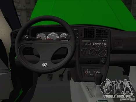 Volkswagen Corrado 1995 para GTA San Andreas vista inferior