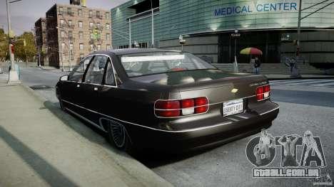 Chevrolet Caprice FBI v.1.0 [ELS] para GTA 4 vista lateral