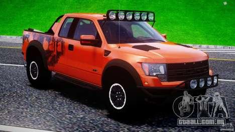 Ford F150 Racing Raptor XT 2011 para GTA 4 motor
