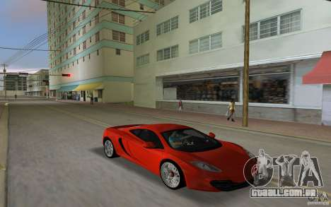 Mclaren MP4-12C para GTA Vice City deixou vista