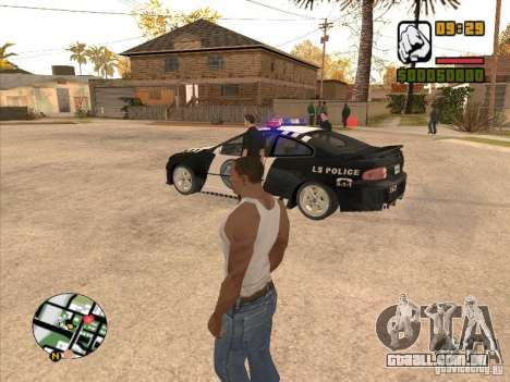 Call the Police para GTA San Andreas por diante tela