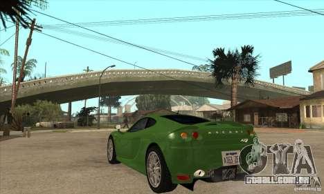 Ascari KZ1 para GTA San Andreas traseira esquerda vista