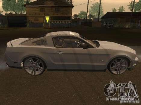 Ford Mustang 2011 GT para GTA San Andreas vista interior