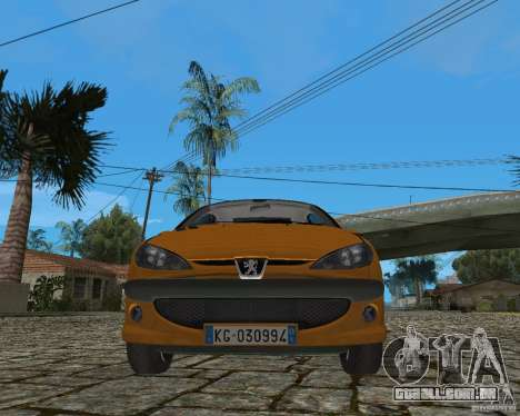 Peugeot 306 para GTA San Andreas vista interior