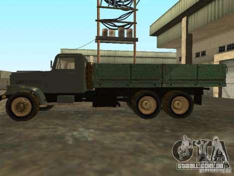 Mesa de caminhão KrAZ v. 2 para GTA San Andreas esquerda vista
