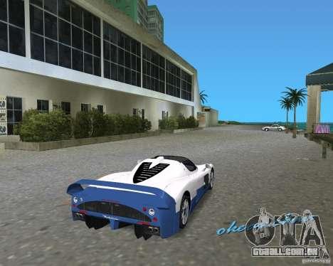 Maserati MC12 para GTA Vice City vista traseira esquerda