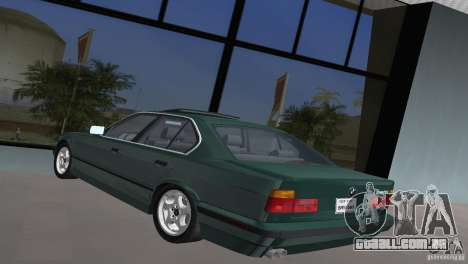 BMW 540i e34 1992 para GTA Vice City deixou vista