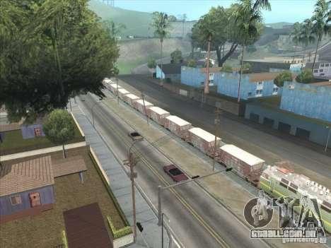 Vagões para vista lateral GTA San Andreas