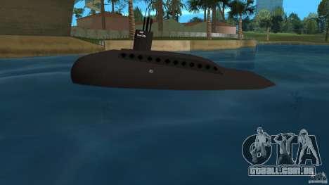 Vice City Submarine without face para GTA Vice City deixou vista