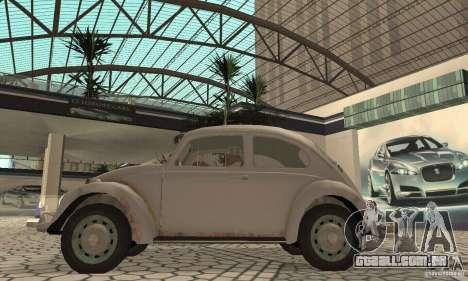 Volkswagen Beetle 1963 para GTA San Andreas traseira esquerda vista