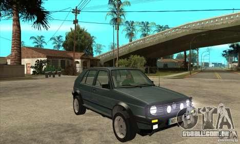 Volkswagen Golf Country MkII Syncro 4x4 1991 para GTA San Andreas vista traseira