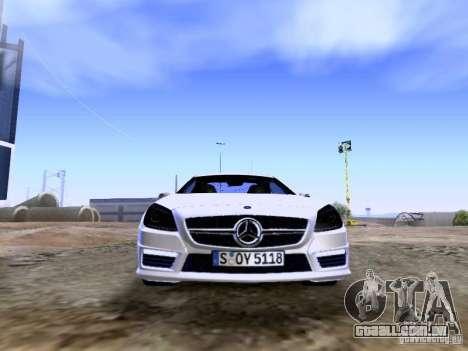 Mercedes-Benz SLK55 AMG 2012 para GTA San Andreas vista superior
