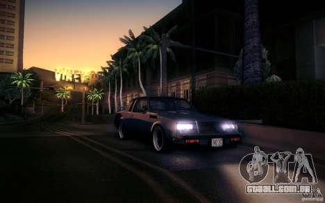 Buick Regal GNX para GTA San Andreas vista traseira