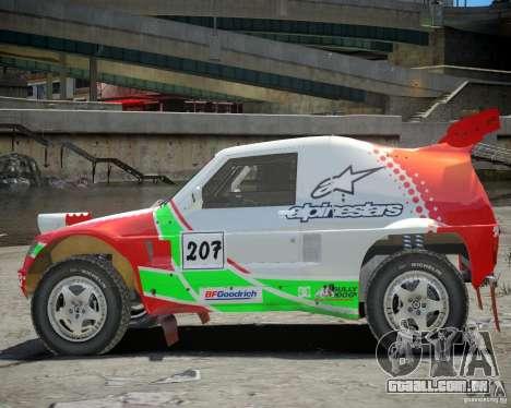 Mitsubishi Pajero Proto Dakar EK86 vinil 2 para GTA 4 vista de volta
