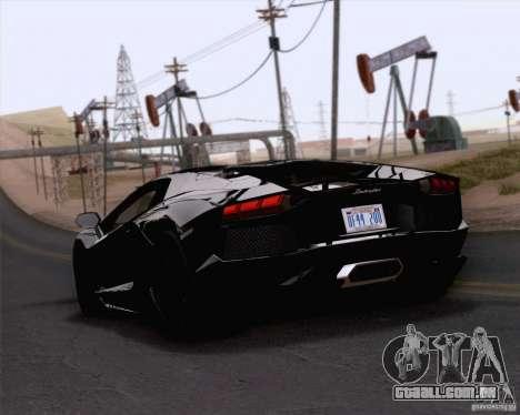 Lamborghini Aventador LP700-4 2011 para GTA San Andreas esquerda vista