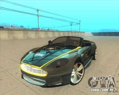 Aston Martin DBS Volante 2009 para vista lateral GTA San Andreas