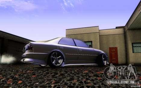 Toyota Chaser JZX100 para GTA San Andreas vista superior
