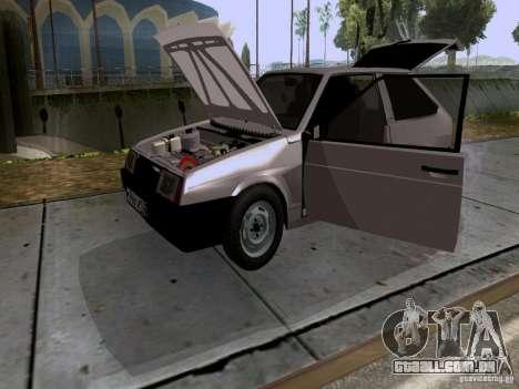 Dreno VAZ 2108 para GTA San Andreas vista interior