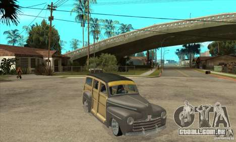 Ford Woody Custom 1946 para GTA San Andreas vista traseira
