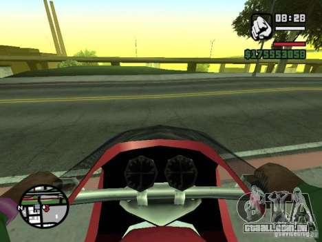Primeira pessoa (primeira pessoa mod) para GTA San Andreas por diante tela