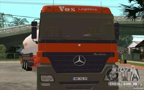 Mercedes-Benz Actros para GTA San Andreas esquerda vista