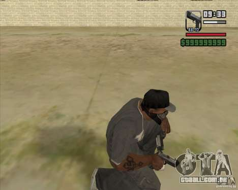 New Pistol para GTA San Andreas terceira tela