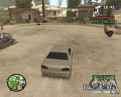 Radar zoom para GTA San Andreas segunda tela