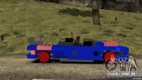 LEGOCAR para GTA 4 esquerda vista
