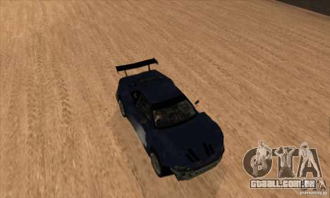 Nissan Skyline R34 GT-R LM para GTA San Andreas vista superior