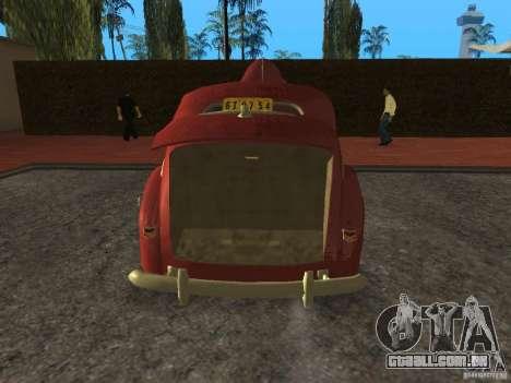 Ford 1940 v8 para GTA San Andreas vista traseira