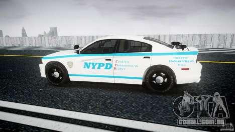 Dodge Charger NYPD 2012 [ELS] para GTA 4 esquerda vista