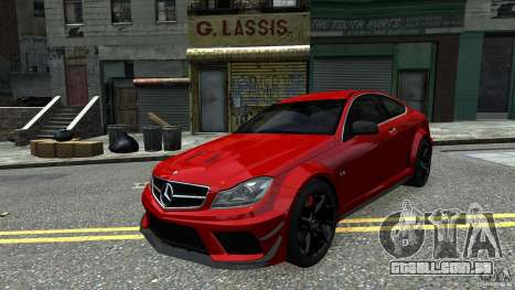 Mercedes Benz C63 AMG Black Series 2012 para GTA 4