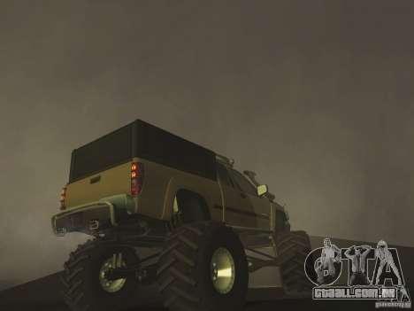 Chevrolet Colorado Monster para GTA San Andreas vista traseira