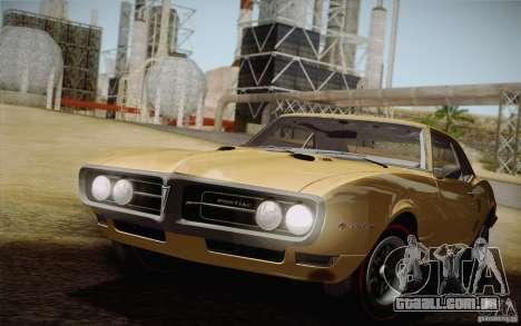 Pontiac Firebird 400 (2337) 1968 para vista lateral GTA San Andreas