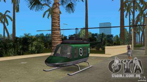 FBI Maverick para GTA Vice City vista traseira