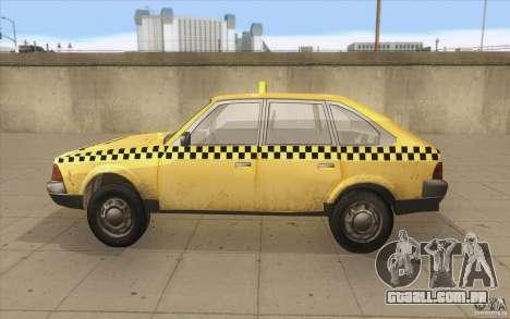 AZLK Moskvich 2141 táxi v2 para GTA San Andreas esquerda vista