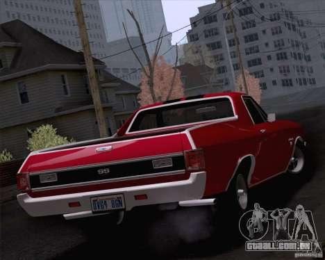 Chevrolet El Camino SS 70 Fixed Version para GTA San Andreas esquerda vista