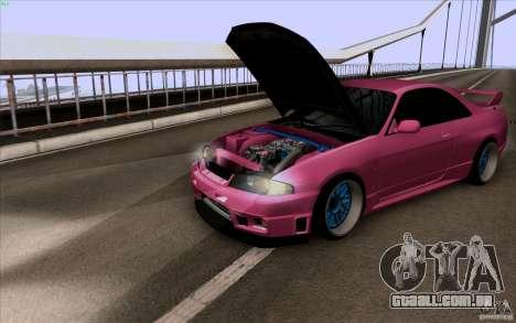 Nissan Skyline GTR 33 Fatlace para GTA San Andreas esquerda vista