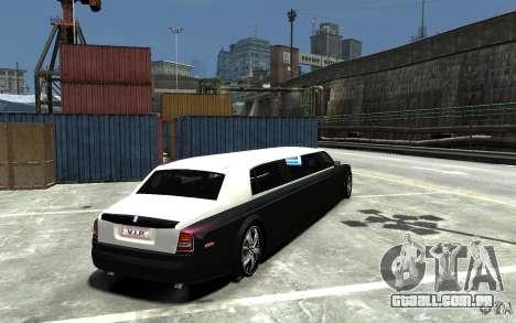 Rolls-Royce Phantom Sapphire Limousine v.1.2 para GTA 4 vista direita