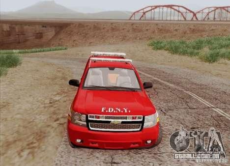 Chevrolet Suburban EMS Supervisor 862 para GTA San Andreas vista interior