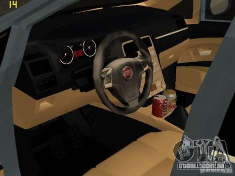 Fiat Linea T-jet para GTA San Andreas traseira esquerda vista