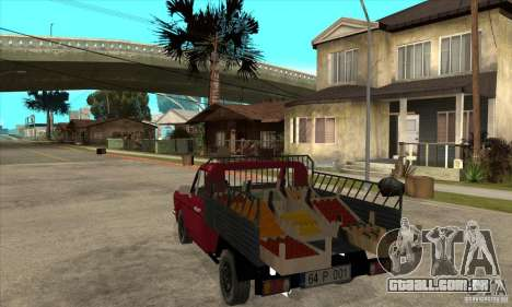 Anadol Pickup para GTA San Andreas traseira esquerda vista