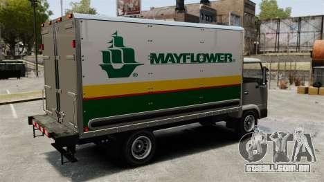 Novos anúncios para o caminhão, mula para GTA 4 vista direita